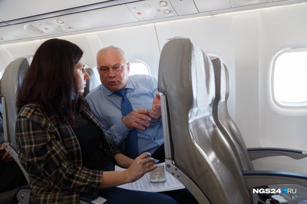 Один из новых французских самолетов поставили на рейс до столицы Эвенкии Туры. На его борту мы обсудили проблемы и победы региональной авиации