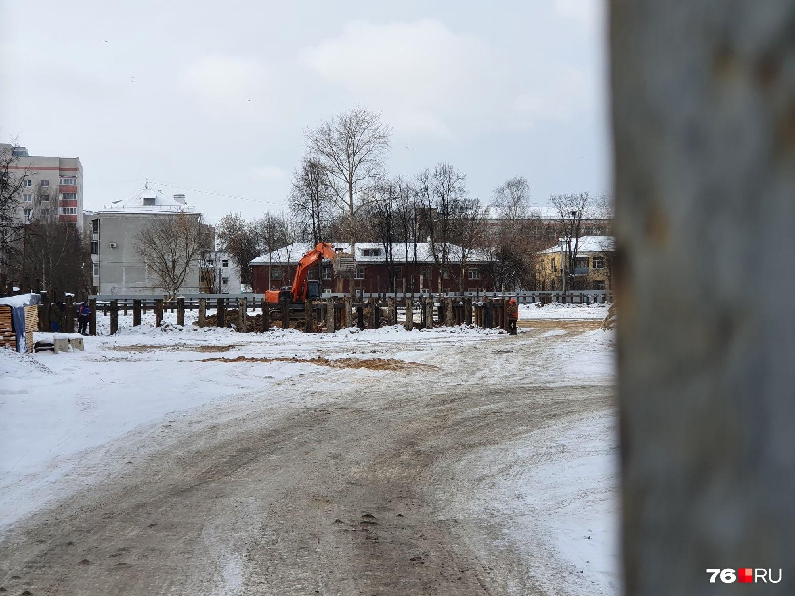 Работы по строительству жилого комплекса «Сердце Ярославля» уже идут полным ходом