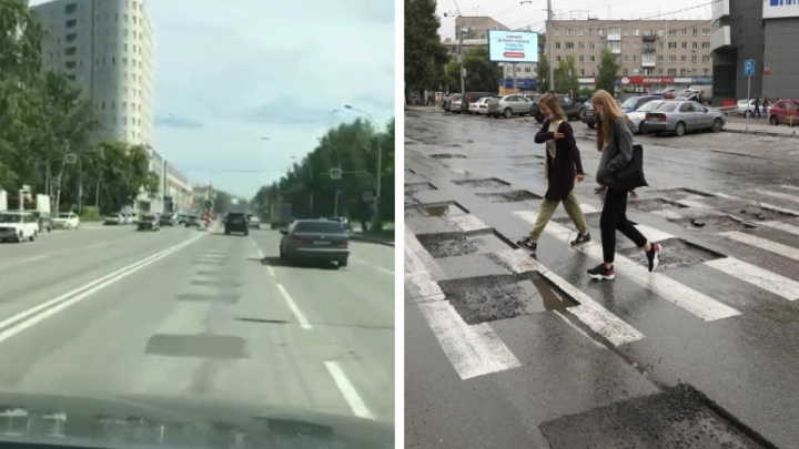 На проспекте Дзержинского закатали квадратные ямы — водители сравнили покрытие со стиральной доской