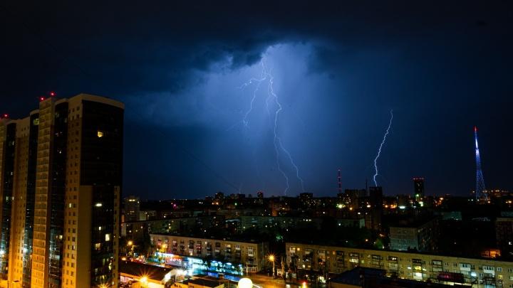 МЧС предупреждает о сильных грозах в Прикамье в выходные
