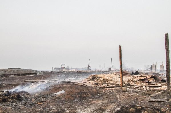 Сгорели 14 из 33 жилых домов