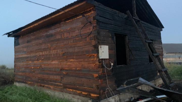 Под Омском в пожаре погибли мать и двое детей