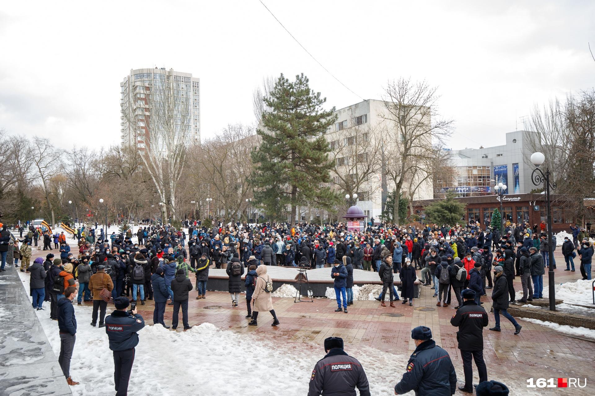 Людям не помешало прийти на митинг и то, что он не был санкционирован