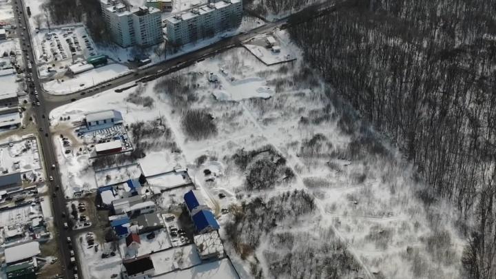 Вырастут многоэтажки: смотрим с высоты на площадку застройки уПарка 60-летия Советской власти