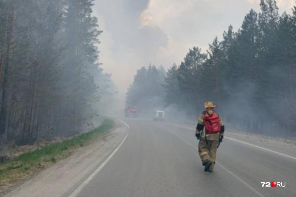 Люди хотят помогать профессионалам в тушении пожаров