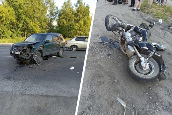 Пострадал мотоциклист
