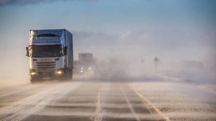 Из-за метели на двух трассах Новосибирской области запретили движение автобусов