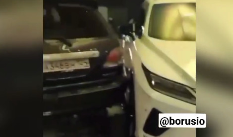 Мужчина на Lexus протаранил дилерский центр в Красноярске