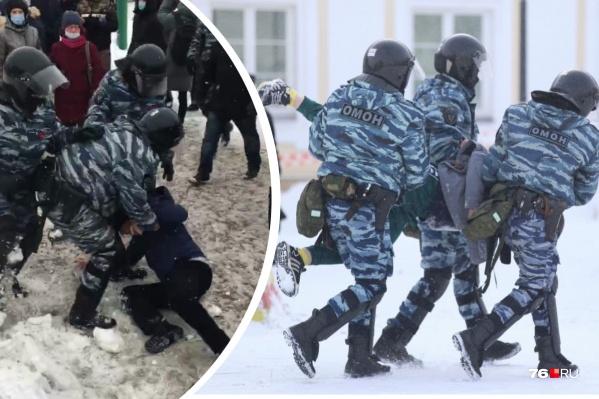 Первые задержания начались на площади Юности. Затем двоих вынесли с Советской площади