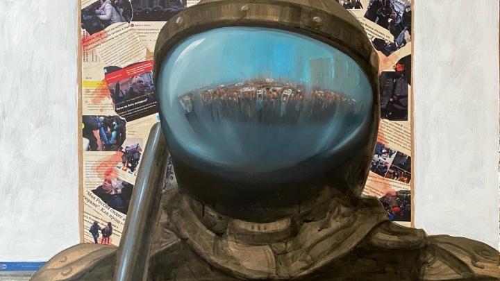Челябинский художник написал картину о массовых протестах, и его обвинили в хайпе