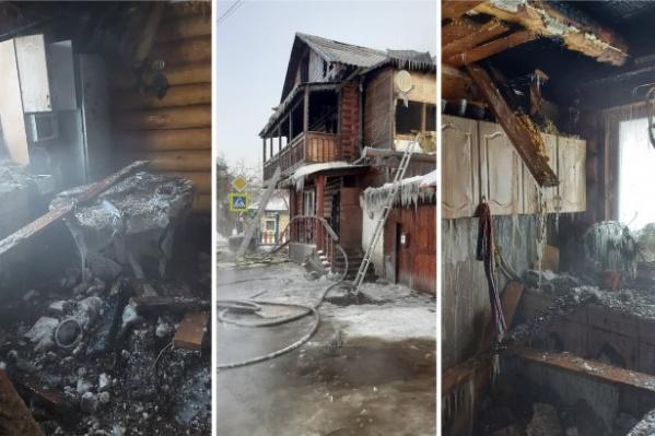 Огонь уничтожил всё, что было в доме