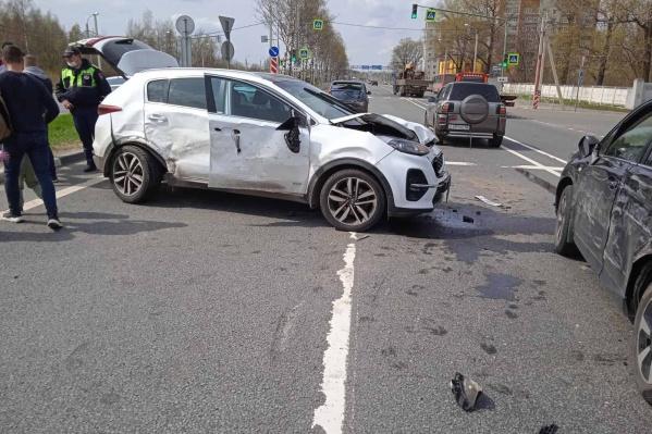 В Ярославле столкнулись пять автомобилей