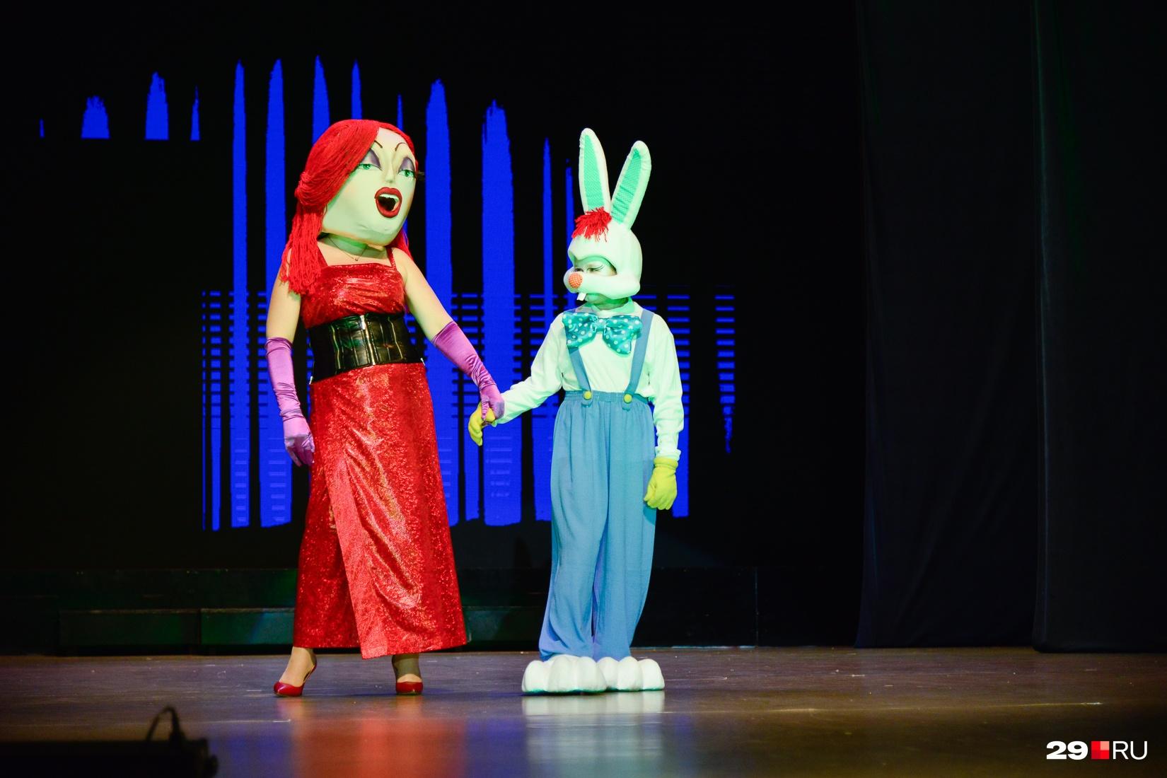 Джессика Рэббит и ее сердечный друг — Кролик Роджер