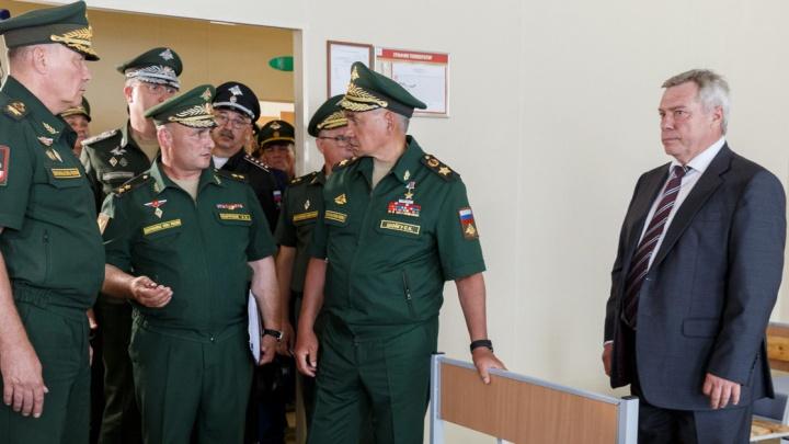Шойгу отчитал Голубева за отсутствие баранок и сала для солдат в Ростове