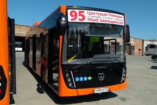 Автобусы работают на газомоторном топливе