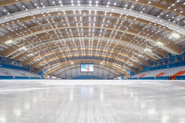 """Открытие ледового дворца власти планируют в марте <nobr class=""""_"""">2021 года</nobr>"""