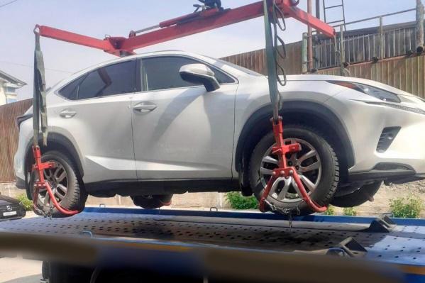 Машину пустят с молотка в качестве уплаты штрафа