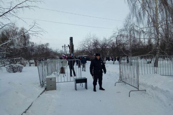 Ранее все санкционированные акции проходили в сквере Космонавтов