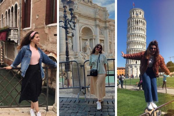 Девушка онлайн преподает иностранные языки, а в свободное время путешествует по Италии