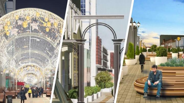 Как хотят поменять пешеходную часть улицы Вайнера? Разглядываем четыре концепции