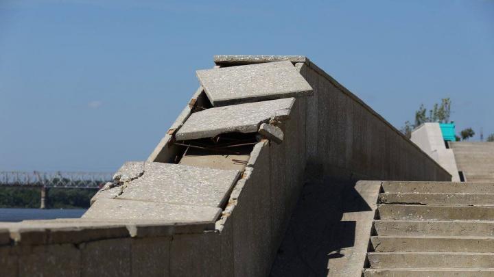 На набережной в Уфе, в которую вложили больше 5 миллиардов рублей, после половодья разрушились стены парапета