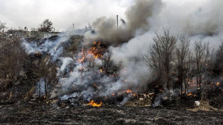 Зарево было страшное: пожарные отбили от огня въезд в Волгоград