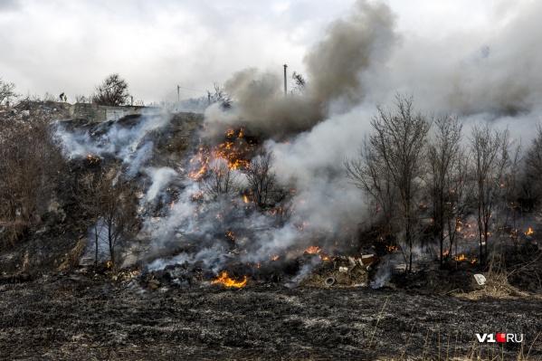 Пожар вспыхнул на исходе среды