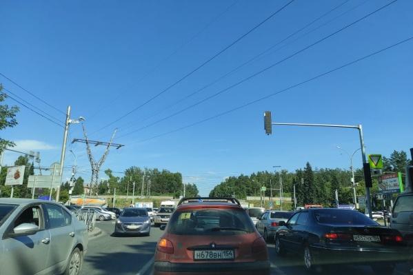 Так выглядит дорожная ситуация в районе проспекта Строителей