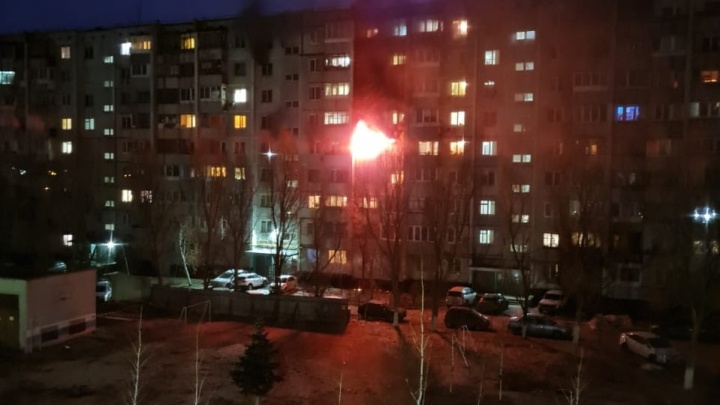 Вместо «доброго утра»: в Волгограде тушат пожар в девятиэтажке