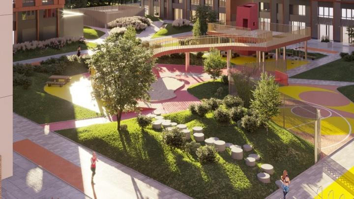9500 квадратных метров счастья: как будет выглядеть территория одного из самых современных жилых комплексов Уфы