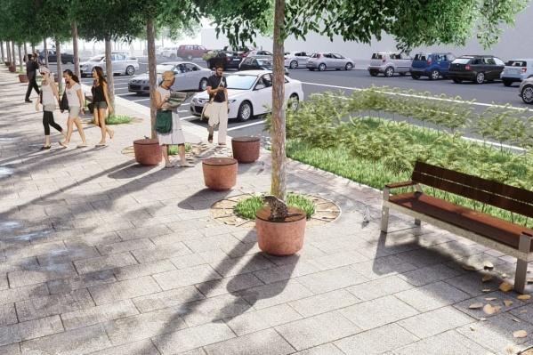 По задумке урбанистов зона возле «Золотого яблока» должна превратиться зеленый оазис