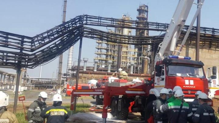 Стали известны подробности пожара на заводе «Уфанефтехим»