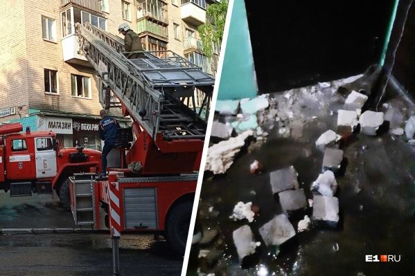 Местные жители запечатлели последствия «хлопка»: в квартире выбило дверь и окна