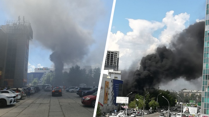 Над площадью Маркса поднялся столб черного дыма — что там случилось