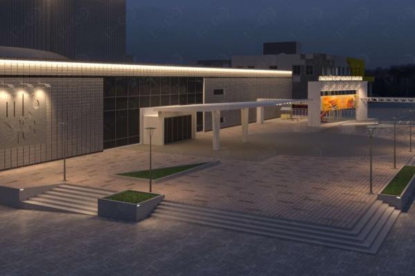 Площадь перед зданием и внутренний дворик театра тоже благоустроят