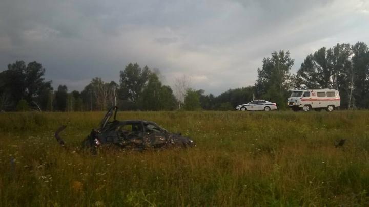 «Лада-Гранта» вылетела в кювет на трассе в Шушенском районе, погибли три женщины