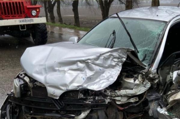 Погибший ребенок находился в машине«Мицубиси»