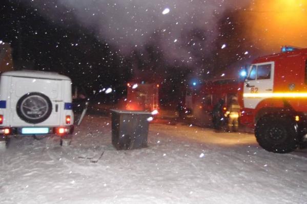 Пожар в Минусинске сегодняшней ночью