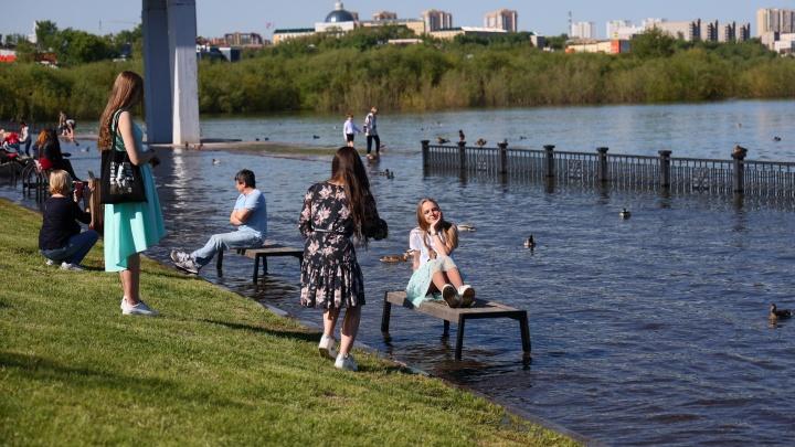 В Красноярске ввели режим угрозы ЧС из-за паводка. ГЭС продолжает увеличивать сбросы