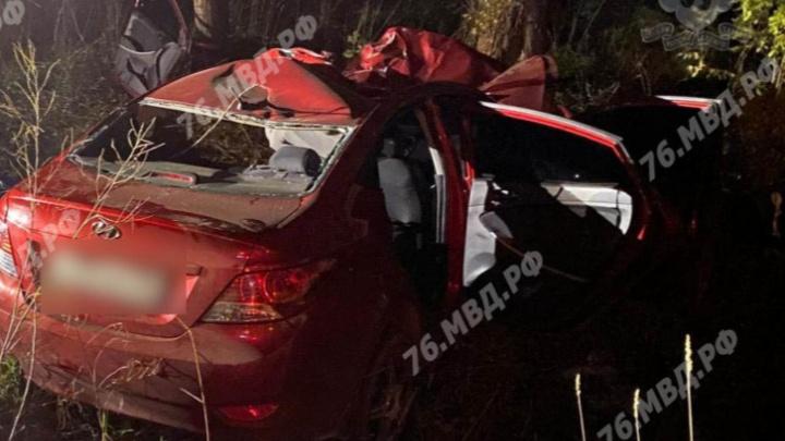 Машину выбросило с трассы: в Ярославской области водитель разбился, столкнувшись с лосем