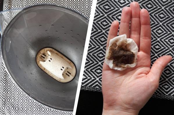 Вода, которая бежит у тюменки из крана, делает любые белые предметы коричневыми