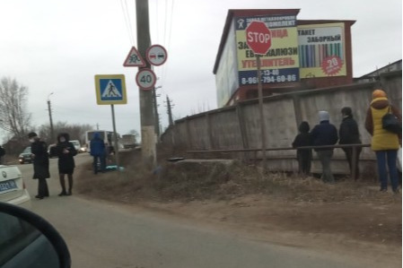 Авария произошла на улице Пушкина