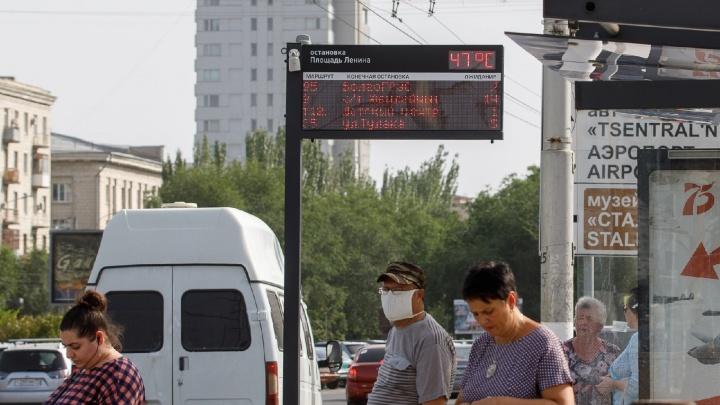 Облачная гряда ненастного фронта: в Волгограде синоптики предупреждают о крепком ветре и жаре до 43 °С