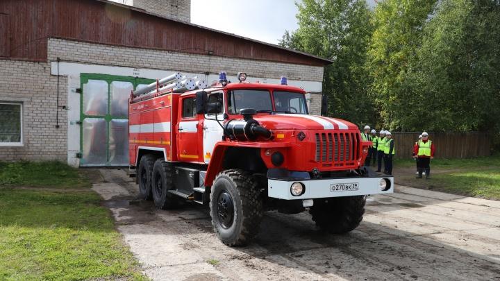 «Титан» подарил огнеборцам Пинежского района современную пожарную машину