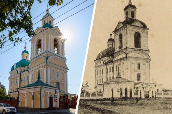Храм заложили в 1804 году. В революцию с него сняли купола и отдали под пушно-меховую базу, которая просуществовала до 1994 года