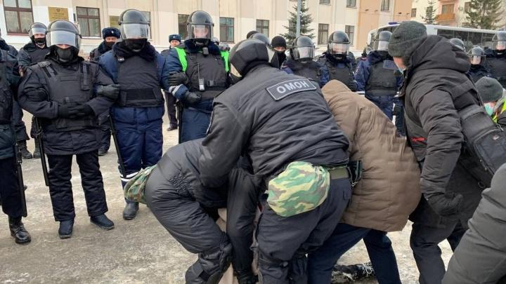 В Тюмени задержаны 43 человека на несанкционированном шествии