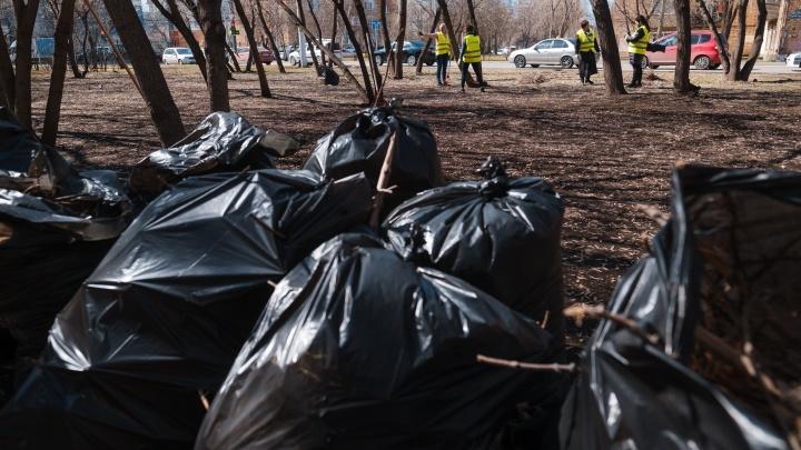 Более пяти тонн мусора вывезла «Красноярская рециклинговая компания» с майских субботников