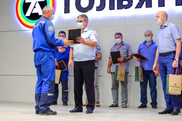 Госавтоинспекция отметила лучших сотрудников транспортного цеха