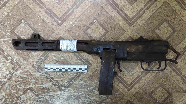 Зауралец нашел возле деревни пистолет-пулемет Шпагина времен войны