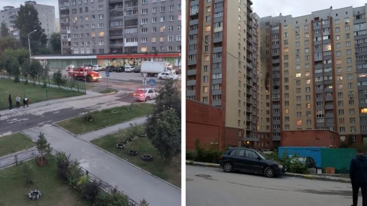 В Новосибирске 16-этажка загорелась из-за неисправной электроплиты